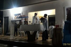 Adoração ao Santíssimo, no Recanto de Itaperuna (RJ)