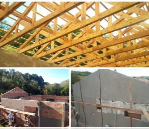 Construção da Capela no Recanto Guarapuava continua em ritmo acelerado.