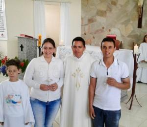 1ª Comunhão do Filho Josemar, no Recanto Irati´-PR