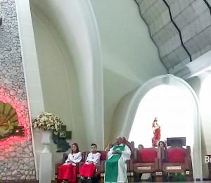 Missa no Santuário Eucarístico de Cianorte, presidida pelo Pe Djalmo e Diácono Ideraldo