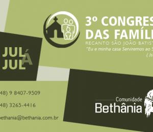 III Congresso para Famílias da Comunidade Bethânia
