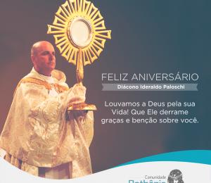 Cofundador Diácono Ideraldo celebra seu aniversário