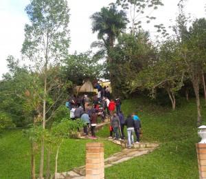 Caravana do Recanto Guarapuava em visita a Casa Mãe em São João Batista