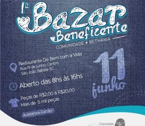 Comunidade Bethânia organiza primeiro bazar beneficente