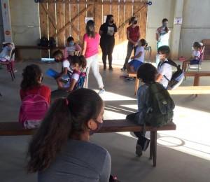 Crianças do CEJU retornam às aulas presenciais