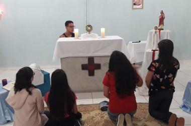 Encontro da turma da 1ª Eucaristia é realizado no recanto Itaperuna (RJ)