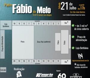 Padre Fábio de Melo realiza show beneficente, em São João Batista