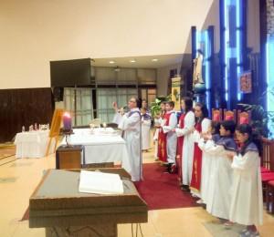 Padre Lucio celebrou a santa Missa com a novena de Nossa Senhora do Perpétuo Socorro em Guarapuava-PR